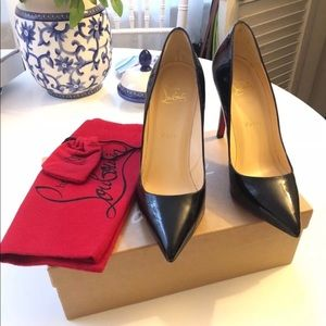 NEW Christian Louboutin Pigalle 100 Black heels